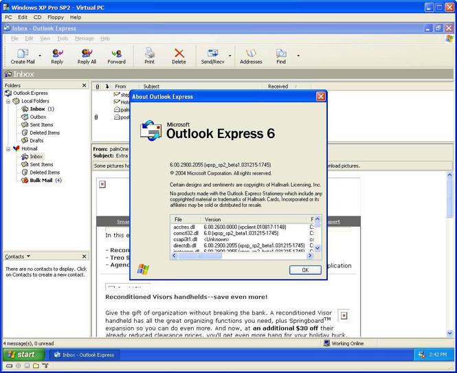 Outlook Express 6.0 (Final) - Download.dk