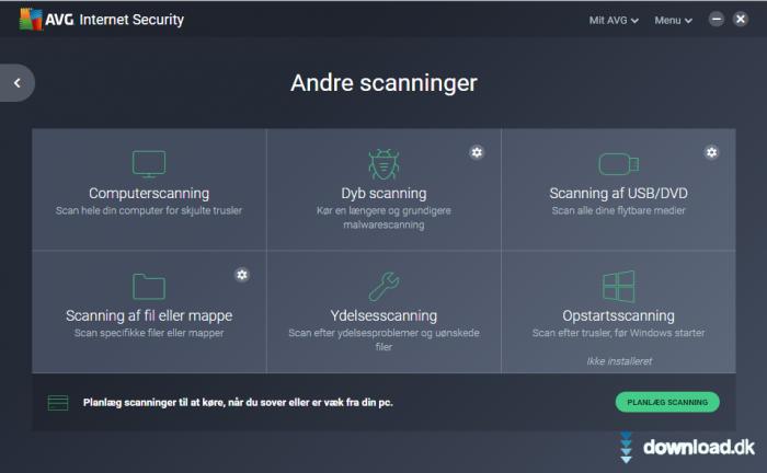 AVG Internet Security (Dansk) 2019 (dansk) - Download.dk