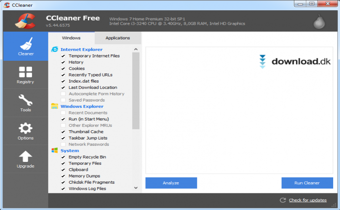 CCleaner Free 5.51 (dansk) - Download.dk
